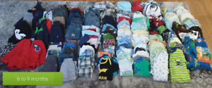 6 to 9 month boys clothes, huge lot 136 items
