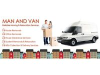 24/7 man and van hire house office moving rubbish removal ikea piano furniture nationwide deleviry