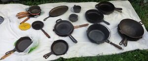 cast iron pans, kitchen knives , pepper mills and more