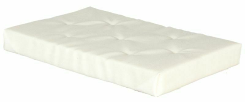 Dollhouse Miniature Double Bed Mattress by Town Square Miniatures