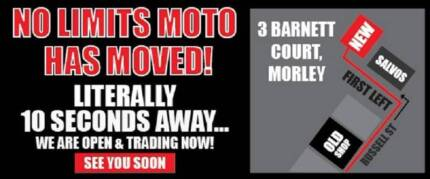 NO LIMITS MOTO Morley have MOVED STORES!
