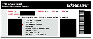 4 COLDPLAY TICKETS FOR AUGUST 21 2017