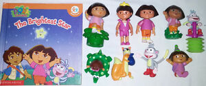 7 sets of Qty 9 Dora Toys & Books