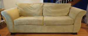 Comfortable Chartreuse Couch - Modern Vintage Mid Century