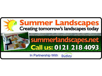 Summer landscapes....The fencing, paving, driveway, slabbing, turfing, and decking specialists!