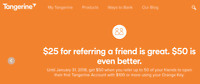 Get $50 for signing up for FREE account with Tangerine