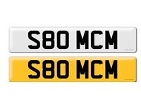 Private Registration Plate S80 MCM