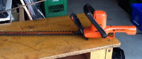 """Black and Decker Hedge Trimmer 22"""" $35."""