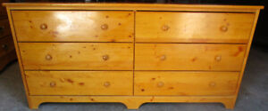 Knotty pine double-sized dresser 4 sale