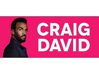 2 x CRAIG DAVID tickets- Mayflower, Southampton- Monday 11th september
