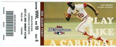 2009 Cardinals Vs Dodgers Ticket  Chris Carpenter Win  Mark Derosa Homered