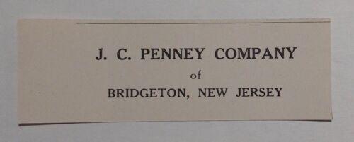 1948 J. C. Penny Company Advertisement Bridgeton NJ