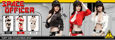 1/6 Scale Female Flirty Girl Space Officer set USA Jiaoudol CG PHICEN Star Wars ()