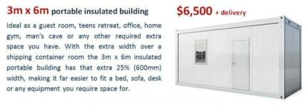 3m x 6m insulated portable building
