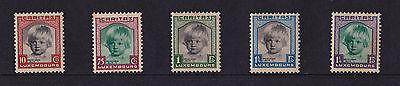 Luxembourg - 1931 Child Welfare - Mtd Mint - Few Tone Spots - SG 302-6