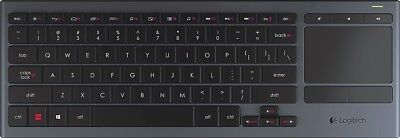 Logitech K830 Illuminated Living-Room Keyboard with Built-in Touchpad