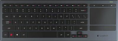 Logitech - K830 Illuminated Living-Room Keyboard with Builtin Finger on-pad