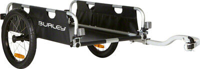 "Burley Flatbed Cargo Trailer 16"" Wheel Open Front, Back, Top 100Lbs Capacity"