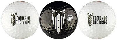 Father Golf Ball Set - Father of the Bride Wedding Golf Ball Gift Set