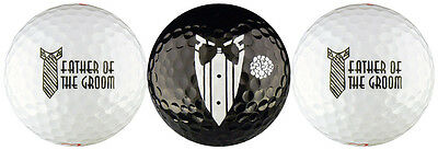 Father Golf Ball Set - Father of the Groom Wedding Golf Ball Gift Set