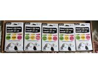 50x GiffGaff Sim Cards Bulk Joblot £5 Free Credit on each sim