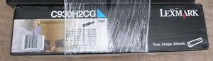 LEXMARK-C930H2CG-Cyan-High-Yield-Factory-Genuine-Toner-in-SEALED-BOX