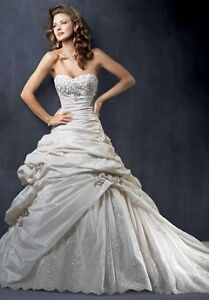 maggie sottero sabelle grown and veil  London Ontario image 2
