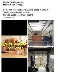 Removal Service, man with van hire, Household furniture mover