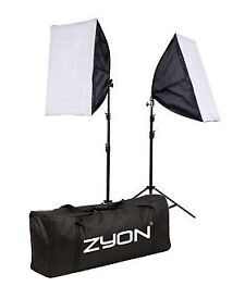 2x Soft Box Photo Studio Lighting Kit Set. PLUS extras!