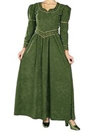 Shrek Princess Fiona dress + wig with tiara and ears. Ladies one size.