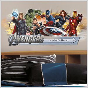 The Avengers Wall Stickers Mural 107 Decals Personalize