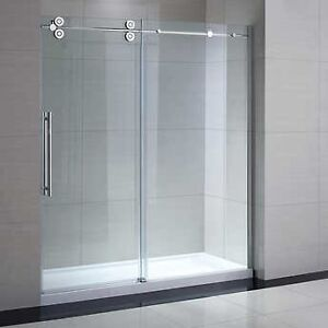 glass shower door 72""