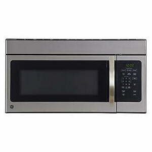 GE Stainless Steel 1.6 Cu Ft Over The Range Microwave Oven (New)