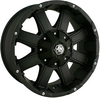 "20"" MAYHEM CHAOS 5X139.7 RIMS WITH 37X13.50X20 TOYO OPEN COUNTRY MT WHEELS TIRES"