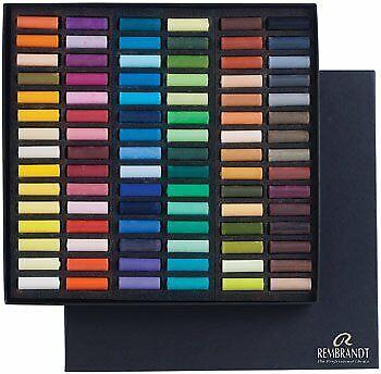 Rembrandt Soft Pastel Cardboard Box Set - 90 Half Stick General Selection