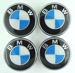 Brand New Sealed BMW SET OF 4 WHEEL HUB CAPS 68MM EMBLEM