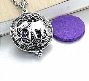 Elephant design aromatherapy filegree locket