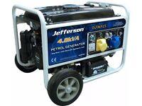Jefferson Petrol Generator 4.8KVA / 3.8KW PETROL GENERATOR E/START