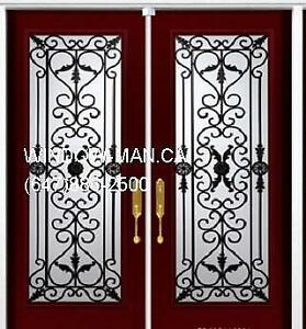 Double Front Iron Wrought Door  Best Pricing and Service