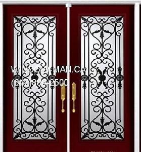 Door Double Iron Wrought Front  Top Quality