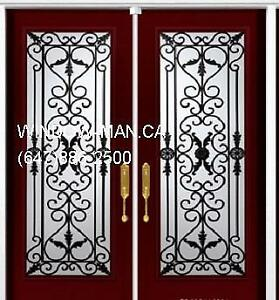 Double Wrought Iron Door Front  Best Pricing and Service