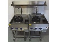 Used Falcon Water Cooled Double Mobile Gas Wok Rings Hire It /Buy It Using Easy Payments