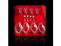 CLASSIC ICE CREAM SUNDAE GLASSES & DESSERT DISHES (8) - FOR SALE