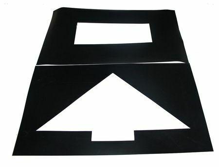 Zoro Select 3W633 Parking Lot Symb,Straight Arrow,Plastic