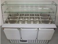 New Foodsville 2 Door Curved Glass Prep Counter Hire/Buy over 4 Months using Easy Payments