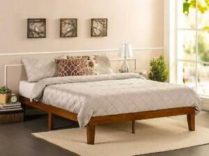 Zinus Solid Wood 12 Platform Bed Available in sizes Twin, Full, Queen, King