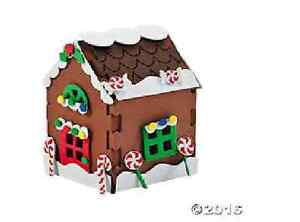 20 Gingerbread Houses for Christmas Party Craft - No Glue!