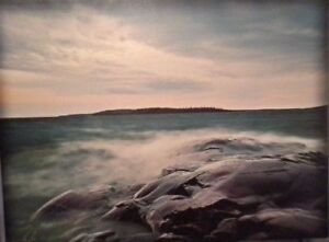Wall hanging on canvas of an ocean view