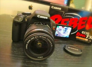 Canon EOS Rebel T3i DSLR Camera 18-55mm & Sigma 10-20mm