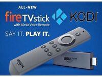 Amazon Fire TV Stick, 2nd Gen, KODI 17.6 Alexa voice remote. ENHANCED for your viewing pleasure!